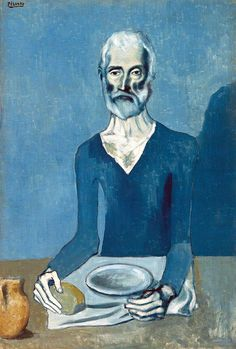 All sizes | Pablo Picasso - The Ascetic, 1903 at Barnes Foundation Philadelphia PA | Flickr - Photo Sharing!