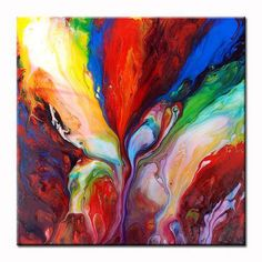 Original Colourful Abstract Fluid Painting 49