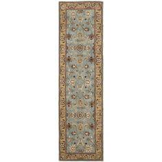 Safavieh Handmade Heritage Timeless Traditional Blue/ Gold Wool Runner (2'3 x 20')