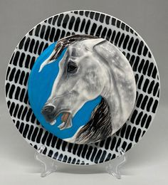 handmade & custom glazed horse head plate Foam Packaging, Sculptures, Lion Sculpture, Draft Horses, Palomino, Horse Head, Glazed Ceramic, Pony, Plate