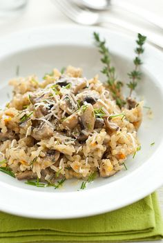 Mushroom and thyme risotto by Sarka Babicka Photography, via Flickr