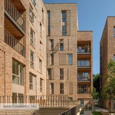 Billedresultat for buff brick student accommodation Brick Architecture, Residential Architecture, Architecture Details, Brick Masonry, Brick Facade, Building Facade, Building Design, Brick Detail, Brick In The Wall