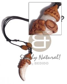 Unisex Surfer Cowrie Tiger Shell Fang With Clay Fingers Adjustable Blac Surfer Necklace sustainable surfers fashion jewelry. Shell Necklaces, Handmade Necklaces, Handmade Jewelry, Summer Necklace, Wood Necklace, Surfers, Fingers, Philippines, Cord