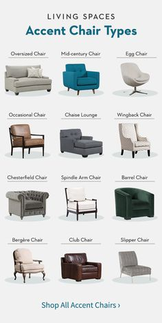 Living Spaces Living Room Furniture Accent Chairs In Every Shape and Style to Suit Your Space Living Room Accents, Accent Chairs For Living Room, Living Room Furniture, Living Room Decor, Dining Rooms, Furniture Styles, Furniture Design, Furniture Layout, Furniture Arrangement