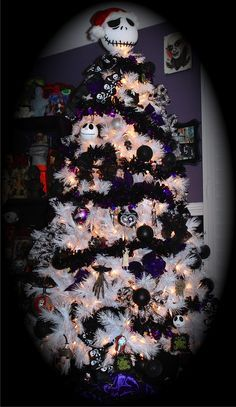 Image result for the nightmare before christmas tree