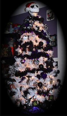 nightmare before christmas decor black white tree skirt
