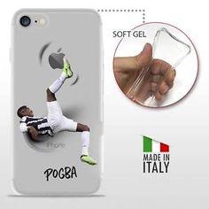 iPhone 7 TPU COVER PROTETTIVA GEL TRASPARENTE Calcio Soccer Football Paul Pogba | eBay