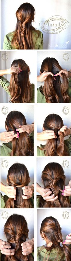 How-to do a fishtail: the Holy Grail of #braids.