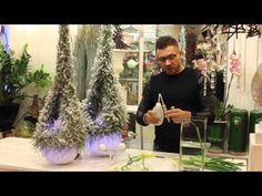Урок флористики. Осенняя композиция на каркасе из окрашенных веток - YouTube