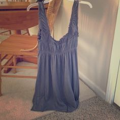 Adorable knee length summer flowy slate grey dress Pre-loved Urban Outfitters Dresses