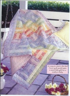 baby quilt - easy pattern, nice colors...