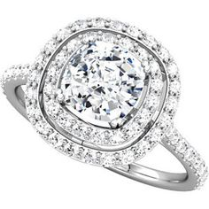 Double Halo Engagement ring Setting