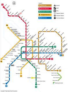 El metro de Taipei, conocido como MRT, es el primer y único sistema en Taiwan. Se inauguró en 1996. Da servicio a la capital de Taiwán y a sus 2,7 millones de habitantes. Consta de 5 líneas que dan servicio a 117 estaciones, además de dos lanzaderas. La longitud total del sistema es de 131,1 kms. El metro es operado por Taipei Rapid Transit Corporation (TRTC). Diariamente es utilizado por casi 2 millones de personas y anualmente por más de 630 millones (2013)