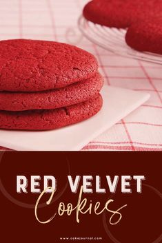 Do you love red velvet cake? Then you're going to want to try these sweet and decadent recipes for red velvet cookies. From the basic red velvet recipe to a stuffed red velvet skillet cookie, these red velvet cookie recipes are perfect for Red Velvet Cookie Recipe, Red Velvet Recipes, Red Velvet Cookies, Chip Cookie Recipe, Red Velvet Cake Pops, Cookies Et Biscuits, Baby Cookies, Heart Cookies, Yummy Treats