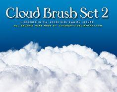 Clouds Brush Set 2 by s3vendays.deviantart.com on @DeviantArt