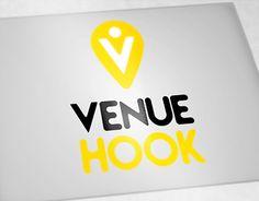 "Logo for ""Venuehook"" Portfolio Logo, Working On Myself, New Work, Logo Design, Company Logo, Behance, Logos, Gallery, Check"
