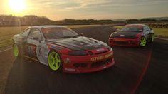 Toyota-Soarer-And-Nissan-S14-200SX-Pembrey Photoshoot-Home