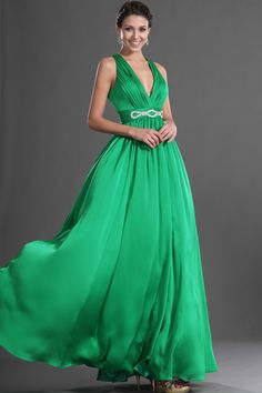 eDressit 2013 New Green V Cut Sexy Evening Dress Vintage Bridesmaid Dresses, Prom Dresses 2016, V Neck Prom Dresses, Dressy Dresses, Chiffon Dresses, Bridesmaids, Wedding Dresses, Sexy Evening Dress, Cheap Evening Dresses