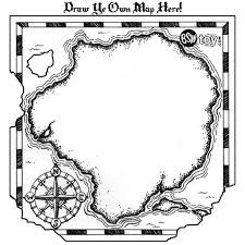 Treasure Map Template for pirate party games or pirate