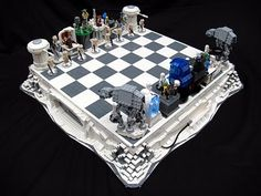 Lego chess set based on The Empire Strikes Back. Swoon!