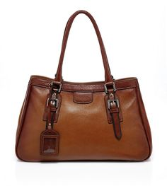 Vicenzo Handbag Anna Italian Leather Top Handle Bag Brown Designer Authentic #VicenzoLeather #TopHandle