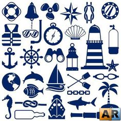 Иконки с морской тематикой 3 | Icons with marine topic 3 » ArStyle ...