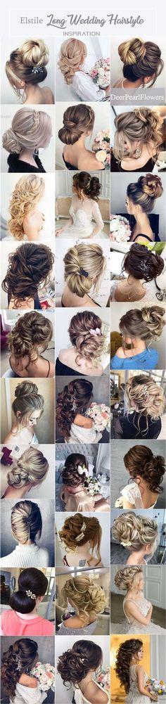 Elstile Long Wedding Hairstyle Inspiration via elstile.com ❤️ http://www.deerpearlflowers.com/elstile-long-wedding-hairstyle-inspiration/