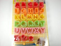 Bento Supplies  Cute Food Cutter Set  Alphabet by JFlairHomestyles