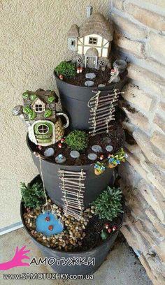 Декор для сада из цветочных горшков - 23 оригинальные идеи - Самостоятельно