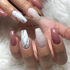 109 elegant nail art design for prom 2019 page 17 … – Nails Cute Acrylic Nails, Cute Nails, Pretty Nails, My Nails, Nail Art Designs, Marble Nail Designs, Nails Factory, Elegant Nail Art, Nagellack Trends