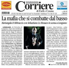 """12 marzo 2014 - Corriere di Romagna intervista a Mariangela D'Abbraccio sullo spettacolo """"Dopo Il Silenzio"""" tratto da """"Liberi Tutti"""" di Pietro Grasso"""