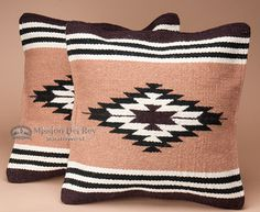 Pair Southwestern Pillow Covers 18x18 -Anasazi Pattern