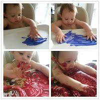 Go ahead! Get Messy:) Play Create Explore: Baby's First Time Painting Mo) Infant Activities, Fun Activities, Children Activities, Creative Activities For Kids, Toddler Fun, Toddler Games, Toddler Stuff, Kids Fun, Time Painting