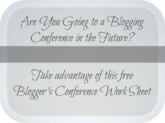 blogger's conference work sheet #teachinggood Teachers of Good Things @Titus2Teacher