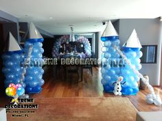frozen decorations | Frozen party decorations - Balloon castle
