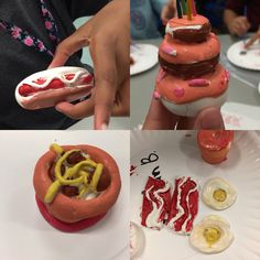 Pop art clay mini's (Donna Staten)