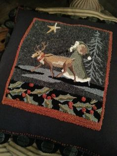 Wonderful pattern for either needle punch or rug hooking. Don't know the pattern source                                                                                                                                                                                 More