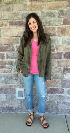 utility green jacket