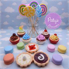 Doces cenográficos: Pirulitos, cupcakes, macarons e tortinhas! -   Paty's Biscuit