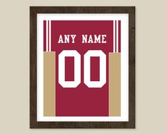 San Francisco 49ers Poster  Jersey Design Print   by CSportImages