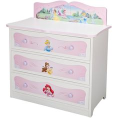 Disney Princesses 3 Draw Chest - the princess bedroom looks prefect with this lovely furniture Disney Princess Bedroom, Princess Bedrooms, Disney Bedrooms, Princess Room, Disney Furniture, Baby Furniture, Fantasy Bedroom, Girls Bedroom, Bedroom Decor