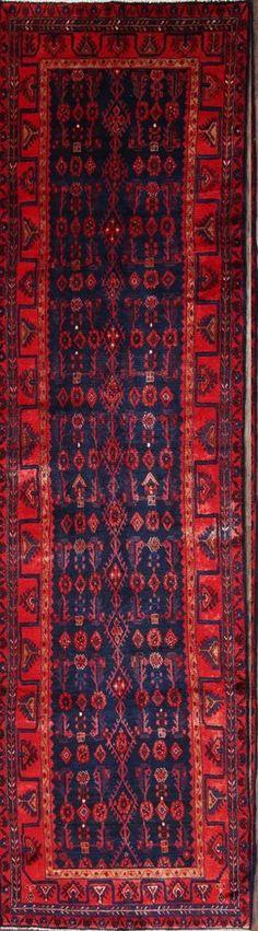 All-Over Navy Runner Nahavand Hamadan Persian Oriental Rug x Kitchen Rug, Oriental Rug, Primary Colors, Persian, Bohemian Rug, Rugs, Farmhouse Rugs, Kitchen Carpet, Kitchen Mat