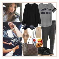 """""""long car rides♥"""" by momochen95 ❤ liked on Polyvore featuring Object Collectors Item, Louis Vuitton, Isabel Marant, Victoria's Secret PINK, Monki, Topshop, Minnie Grace and Casetify"""