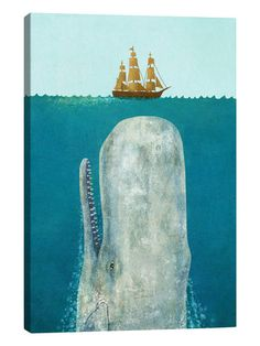 The Whale by Terry Fan (Canvas) by iCanvas at Gilt