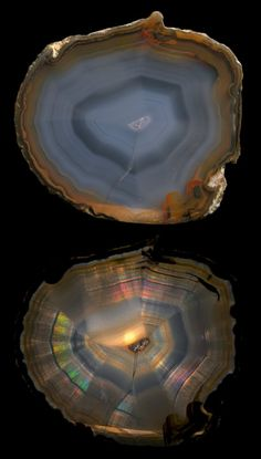 Iris Agate / Rio Grande do Sul, Brazil ***** Minerals And Gemstones, Crystals Minerals, Rocks And Minerals, Beautiful Rocks, Mineral Stone, Agates, Rocks And Gems, Agate Stone, Geology