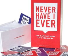 "Coax the deepest and darkest secrets out from your inebriated friends when playing the ""Never Have I Ever"" card game. The classic drinking game is back and better than ever with hundreds of fun, provocative, and embarrassing questions just waiting to be asked."