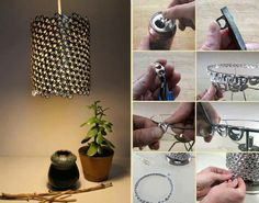 How to make beautiful lighting fixture with recycled cans step by step DIY tutorial instructions, How to, how to do, diy instructions, crafts, do it yourself, diy website, art project ideas