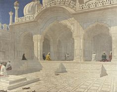 Vasily Vasilievich Vereshchagin - Pearl Mosque, Delhi.jpg (4000×3172)