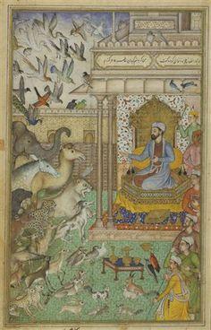 King Solomon and the Animals (Kral Süleyman ve huzuruna gelmiş hayvanlar.)
