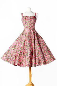 Pinup Couture- Nancy Dress in Pink Lemonade Print - Plus Size | Pinup Girl Clothing